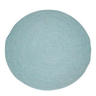 Hand Braided Blue Round Rug - 8' x 8'