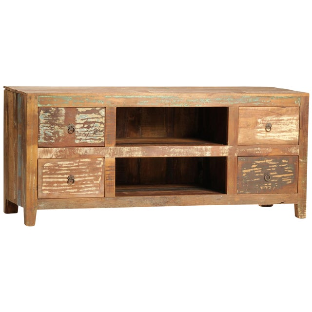 Reclaimed Wood Media Cabinet - Image 1 of 2