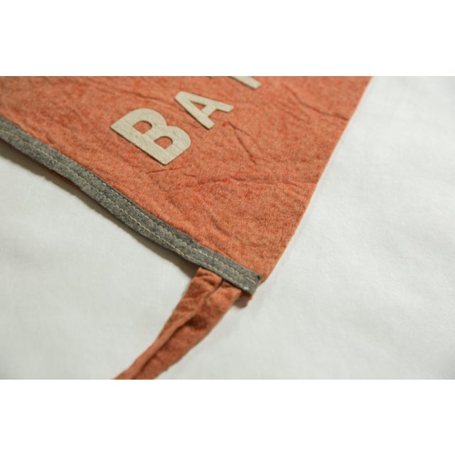 Old New House Antique Batavia n.y. Felt Flag Pennant For Sale - Image 4 of 5