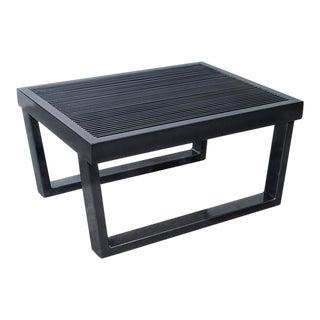 Industrial Black Steel Side Table For Sale