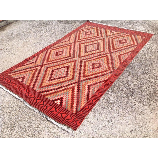 "Islamic Vintage Turkish Kilim Rug - 6' x 9'11"" For Sale - Image 3 of 7"