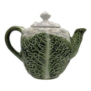 1960s Italian Ceramic Cabbage Teapot For Sale