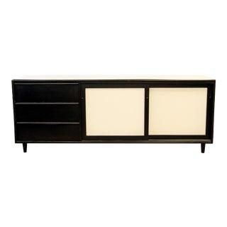 Mid Century Modern Hibriten Black & White Sideboard Dresser Credenza 1960s For Sale