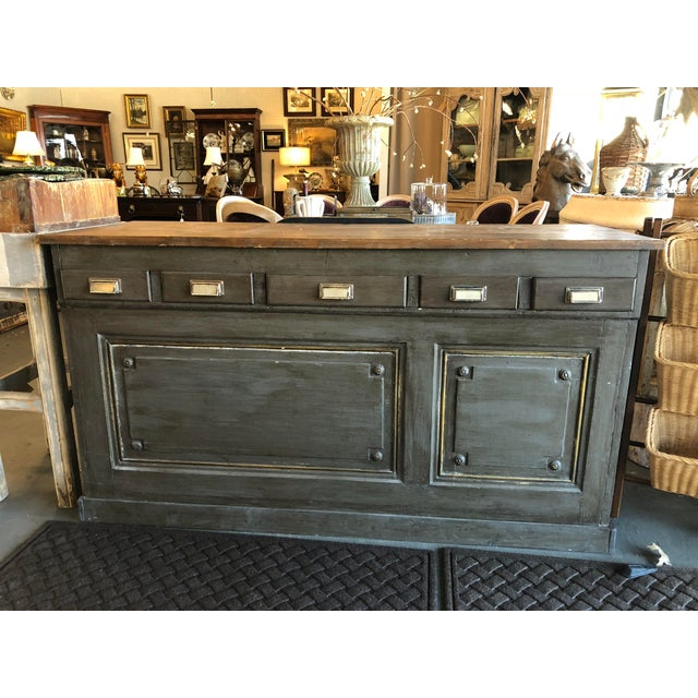 Antique French Storage Counter For Sale In Atlanta - Image 6 of 6