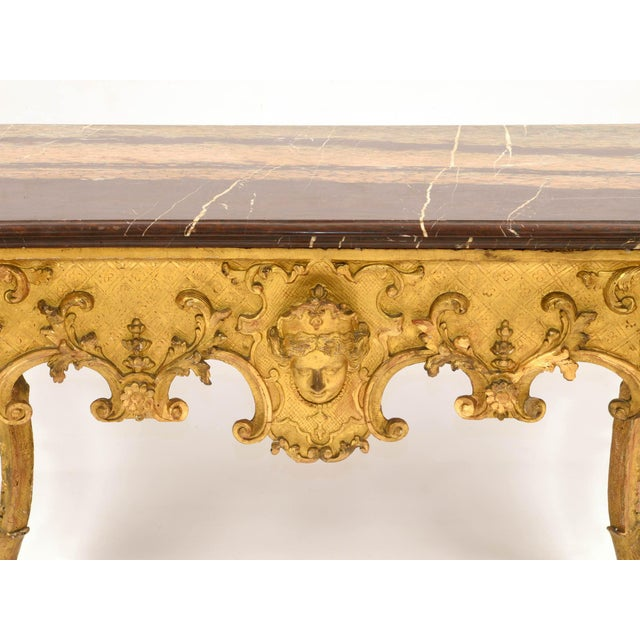 Traditional Regency Console in Wood and Marble, French, XVIII Century For Sale - Image 3 of 11