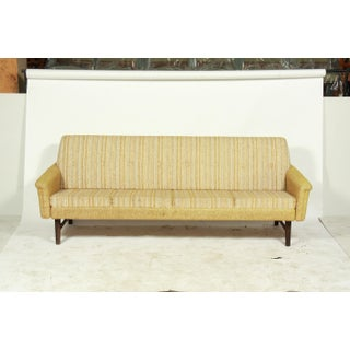 Gold Tufted Mid-Century Sleeper Sofa and Side Chairs Preview