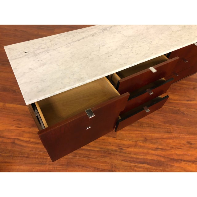 Florence Knoll Four Position Credenza With Marble Top For Sale - Image 10 of 13
