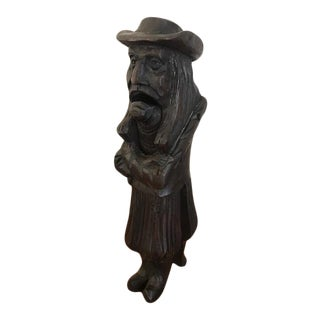 Early 20th Century Hand Carved French Nutcacker of the Breton Man For Sale