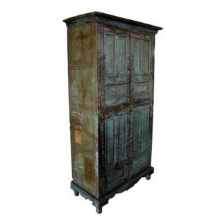 Vintage Goan Indian Hand Painted Cabinet With Four Doors and Substantial Storage Preview