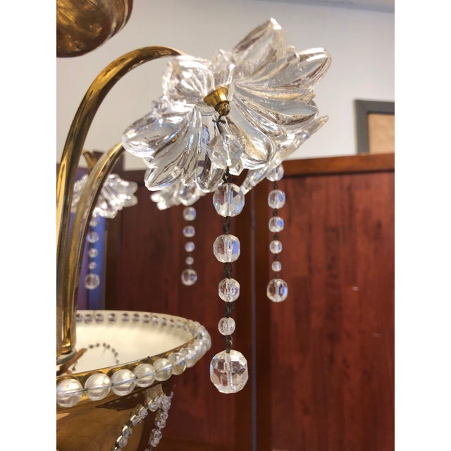 1960s Italian Murano Glass Chandelier For Sale - Image 5 of 6