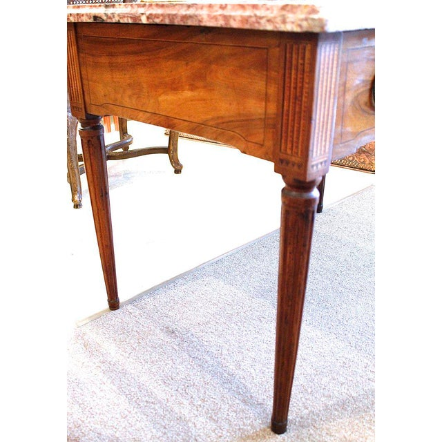 Brown 18th Century Italian Neoclassical Inlaid Marble Top Console For Sale - Image 8 of 10