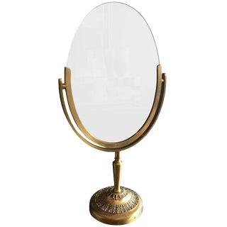 Charles Hollis Jones Vanity or Table Mirror in Antique Brass For Sale