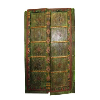 Antique Rustic Door Floral Hand Painted Doors For Sale