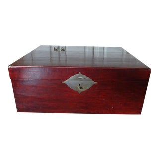 Chinese Lacquer Storage Chest, 1880 For Sale