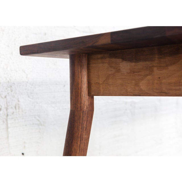Mid-Century Modern Mid-Century Modern Fernweh Woodworking Black Walnut Dining Table For Sale - Image 3 of 7
