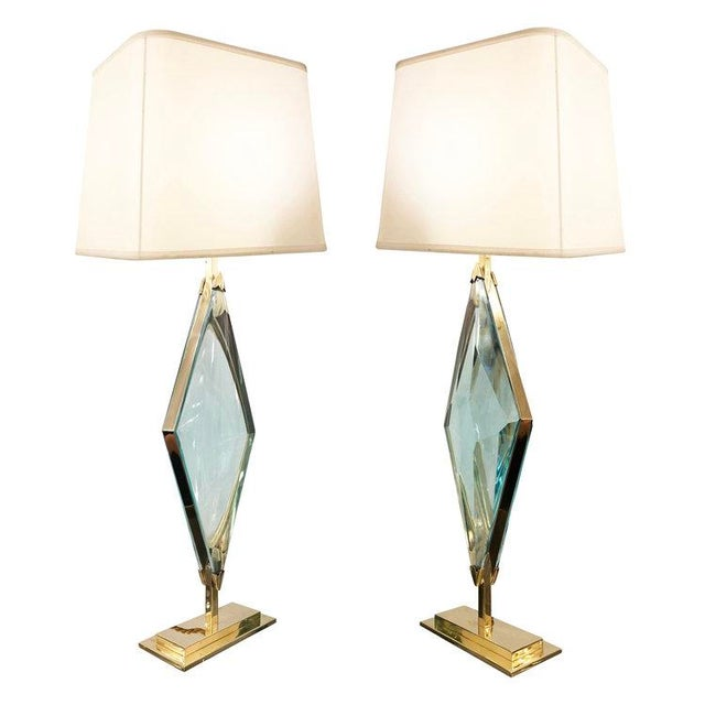 Brass Rombo Table Lamps by formA by Gaspare Asaro For Sale - Image 7 of 7