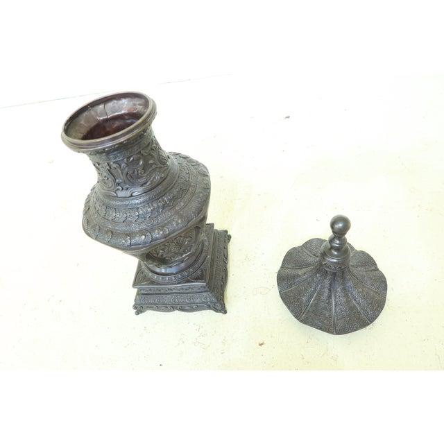 Maitland Smith Bronze Pagoda Form Lidded Urn For Sale In Philadelphia - Image 6 of 10