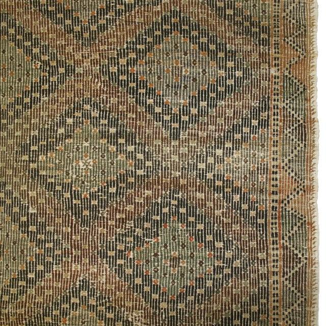 Earthy Vintage Turkish Flatweave Kilim - 6' X 9'6 - Image 3 of 6