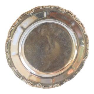 Antique Silver Overlay Serving Plate - Waldershof Bavaria Germany For Sale