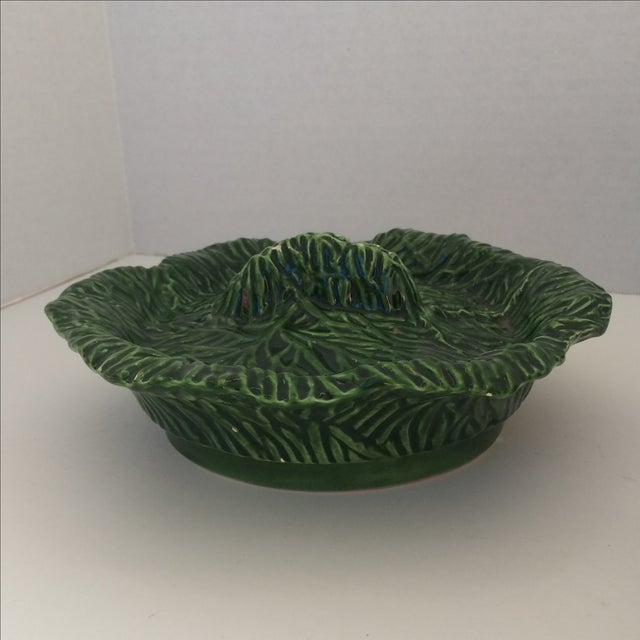 Green Covered Lettuce Ware Bowl - Image 6 of 7