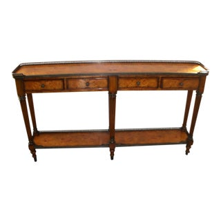 Traditional Theodore Alexander Mahogany Console For Sale