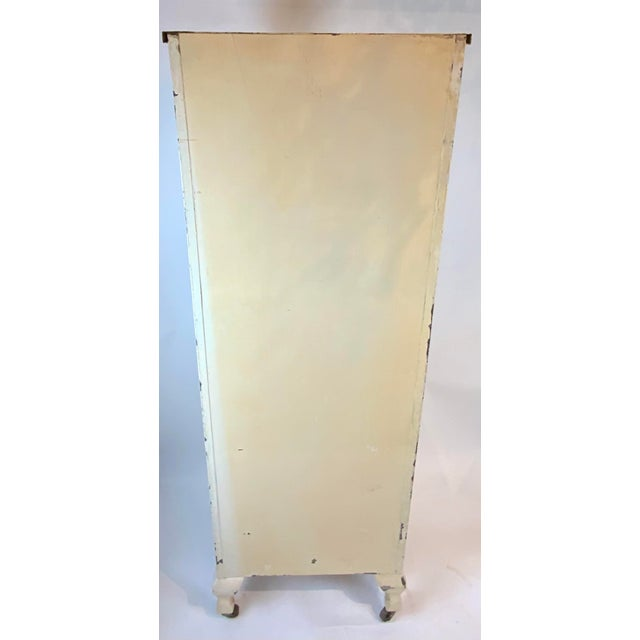1950s 1950s Mid Century Metal Medical Cabinet For Sale - Image 5 of 13