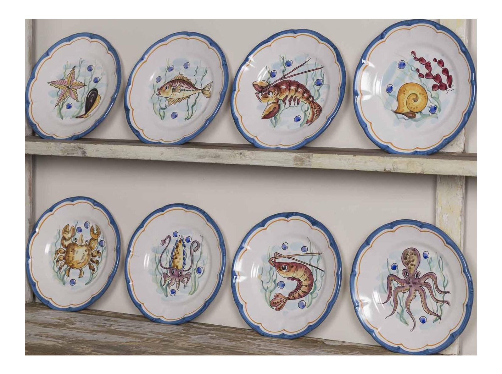 Set Eight Italian Hand Painted Plates Vietri - Image 1 of 11  sc 1 st  Decaso & Distinguished Set Eight Italian Hand Painted Plates Vietri | DECASO