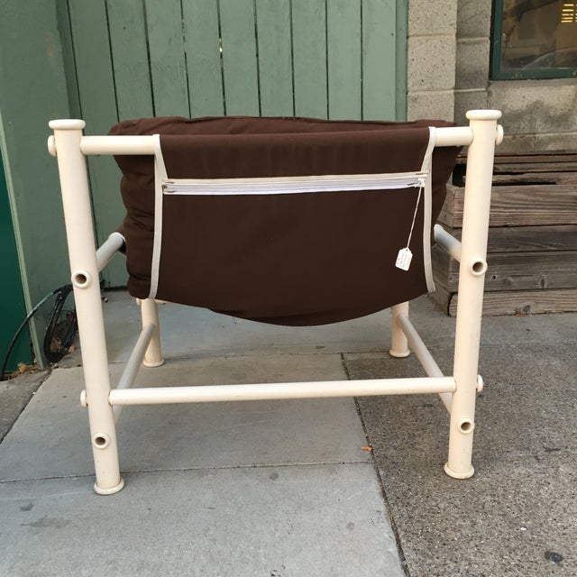 Vintage PVC Pipe Lounge Chair - Image 5 of 7