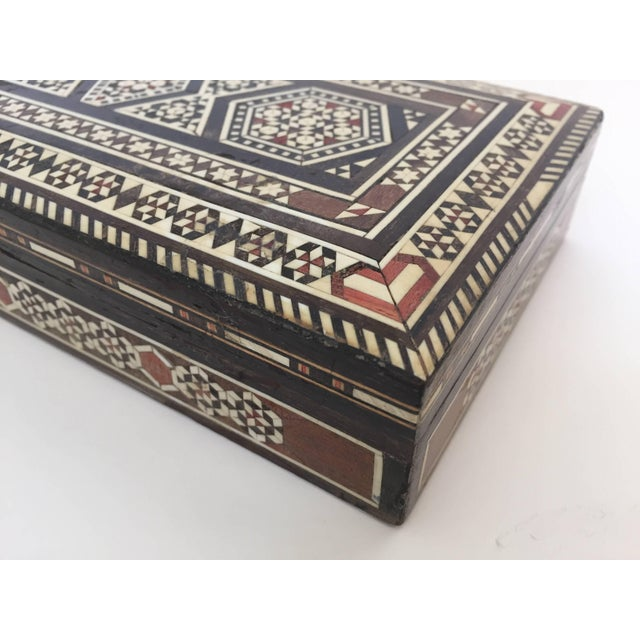 Islamic Syrian Inlay Jewelry Wooden Box For Sale - Image 3 of 10