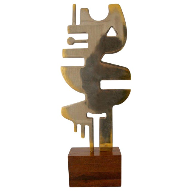 """Mid-Century Modern 1960s """"Totem Symbol"""" Sculpture by Guido Brink For Sale"""