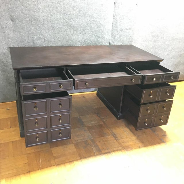 Dark Brown Wooden Desk - Image 5 of 9