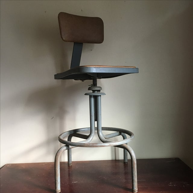 Vintage Royal Industrial Stool - Image 2 of 8