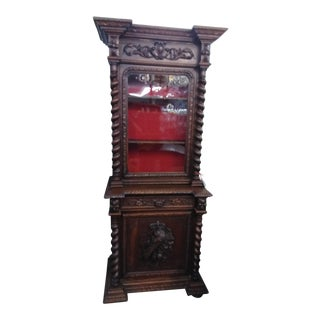 19th Century French Hunter's Cabinet/Bookcase For Sale