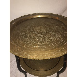 1950s Asian Antique Brass Side Table Preview