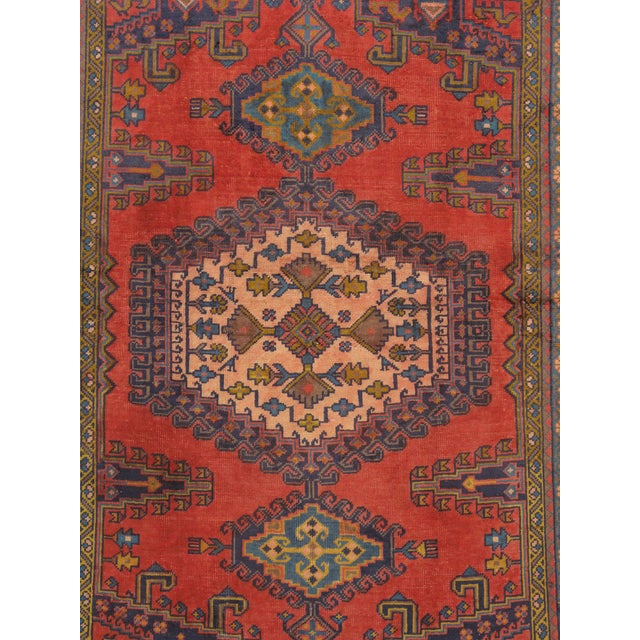 "Vintage Mashad Wool Area Rug - 5' X 6'11"" - Image 2 of 3"