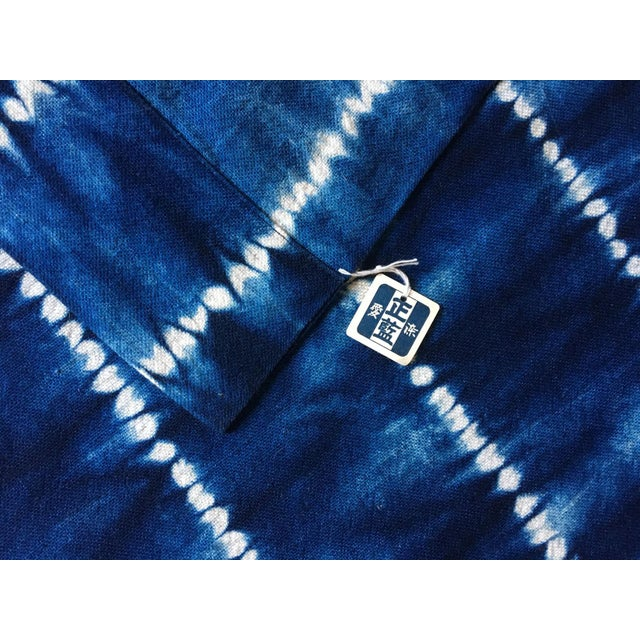 Asian Moving Sale - Make an Offer Everything Has Got to Go - Large Japanese Indigo Shibori Tablecloth, Throw Blanket or Wall Hanging For Sale - Image 3 of 4