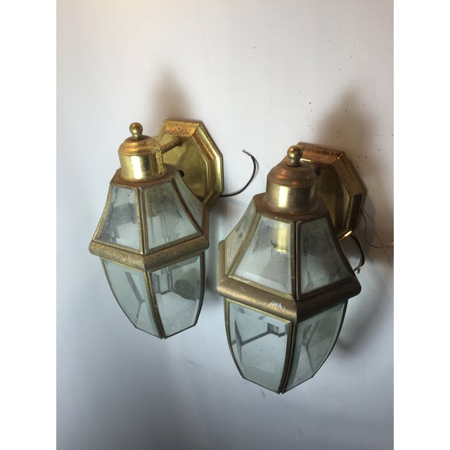 Architectural Outdoor Lanterns - Pair - Image 2 of 3