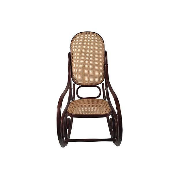 Thonet Attri. Caned Bentwood Rocking Chair - Image 2 of 7