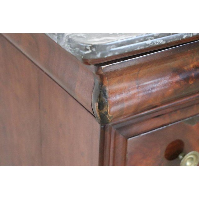 19th Century Italian Mahogany Commode Chest of Drawers With Marble Top For Sale - Image 10 of 13