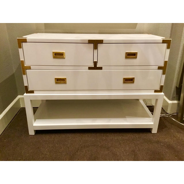 Gold Bungalow 5 Julian White Lacquered Console For Sale - Image 8 of 8