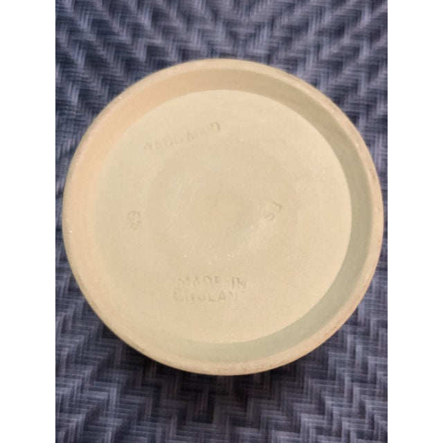 Mid 20th Century Vintage Wedgwood Sage Green Jasperware Catchall Set- 5 Pieces For Sale - Image 5 of 12