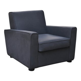 Wesley Club Chair, Black For Sale