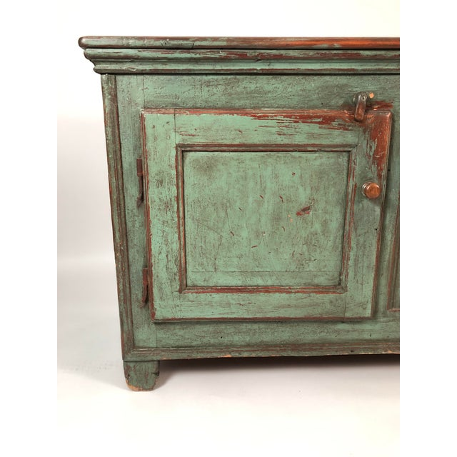 Green French Country Canadian Green Painted Side Cabinet For Sale - Image 8 of 13