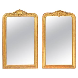 Napoleon III Gilt Wood Mirrors - A Pair For Sale