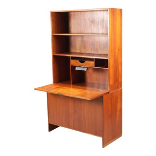 Hans Wegner Danish Modern Secretary Drop Down Desk Cabinet For Sale