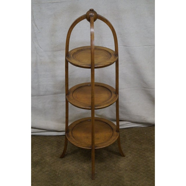 Biggs Mahogany Regency Style 3 Tier Muffin Stand For Sale - Image 4 of 10