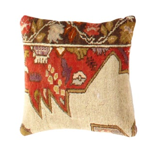 Vintage Pasargad Hand Knotted Rug Pillow For Sale