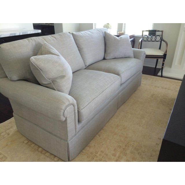 Baker Furniture Custom Sofa With Bill Sofield Fabric - Image 3 of 8
