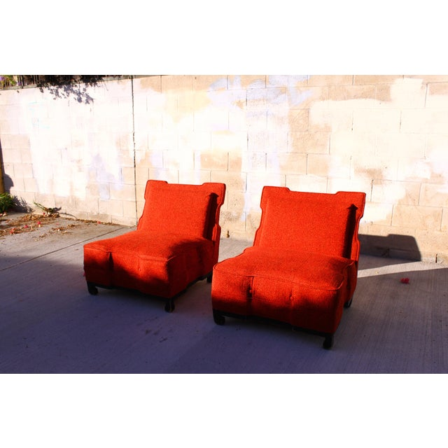 Rare James Mont Slipper Chairs - A Pair - Image 2 of 11