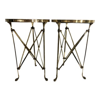 French Empire Style Bronze Tables a Pair For Sale